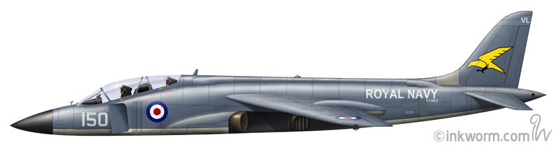 A Royal Navy P.1154. It is likely the aircraft would have been very potent in the air-to-air arena.