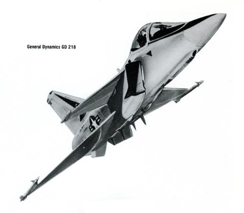 General Dynamics model GD 218 naval fighter concept