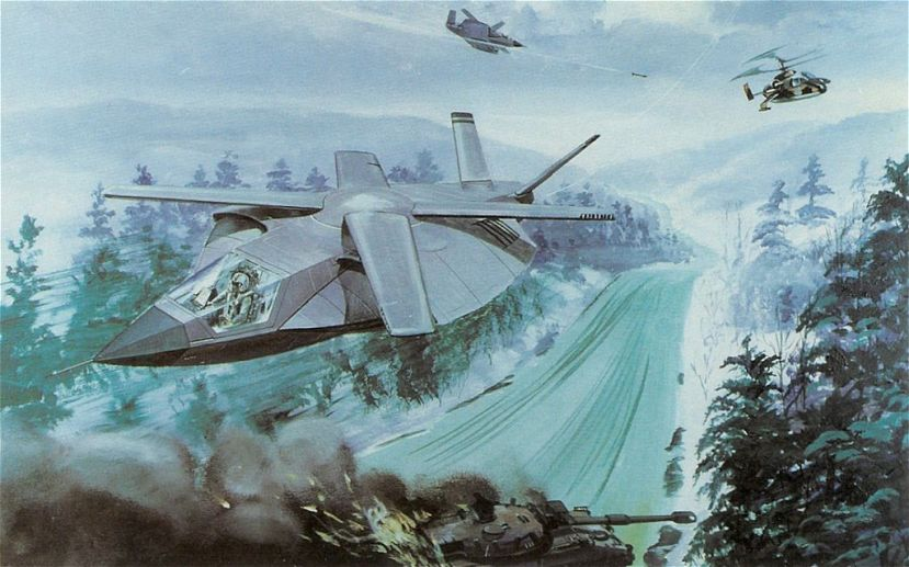 Blowing up tanks, shooting down Kamovs in a Sikorsky X-wing assault aircraft