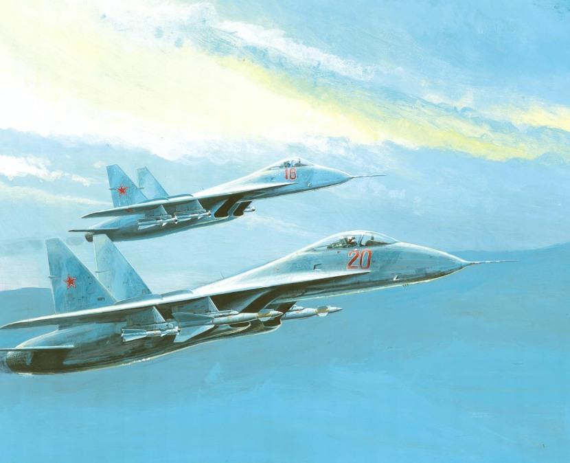 Su-27 artist's impression