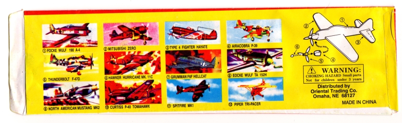 Hey! Number 7 should be a Spitfire! This must be a US edition.