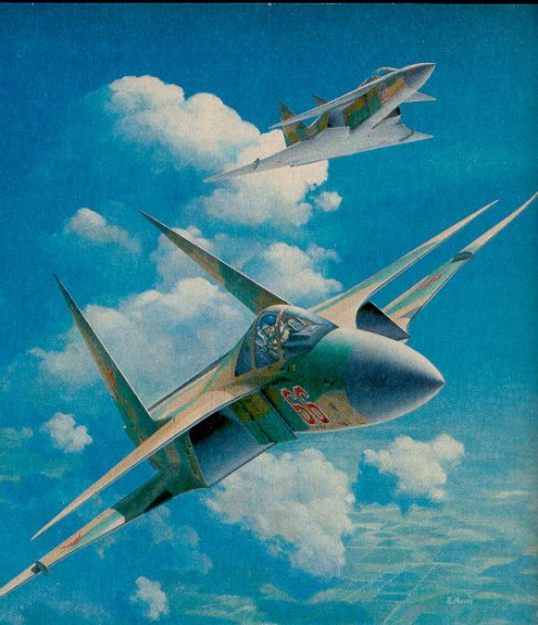 ImageWard's MiG-2000 featured inward canting fins. Another popular '80s idea for stealth aircraft, possibly stemming from leaked information on Lockheed's 'Have Blue'.