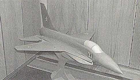 The Mikoyan  Izdeliye 33 (Izd 33) LFI light fighter concept.