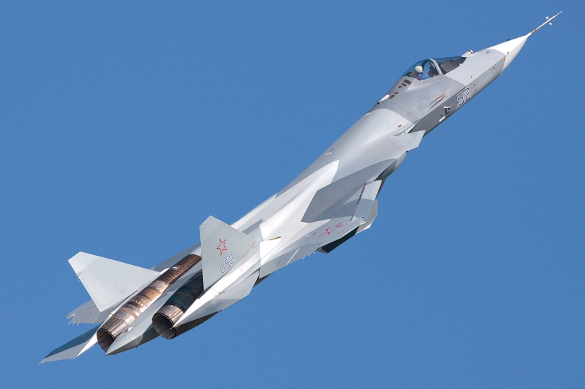 The Sukhoi PAK FA is a large advanced stealth fighter now in development.