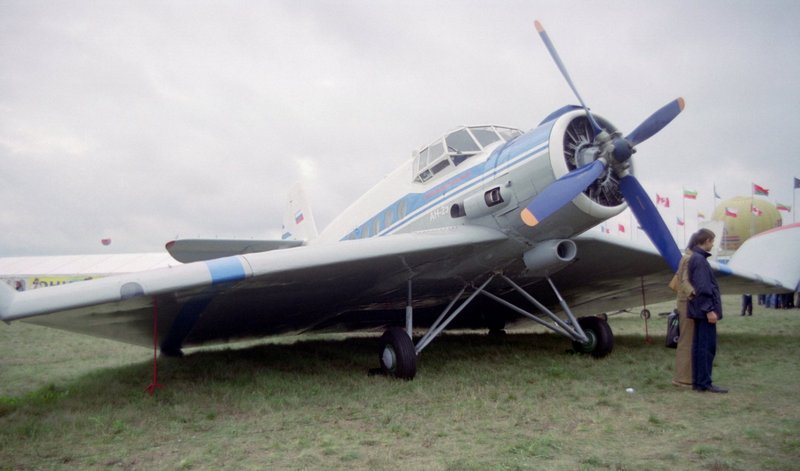 This An-2 was modified for research into wing-in-ground-effect for the Ekranoplan programme.