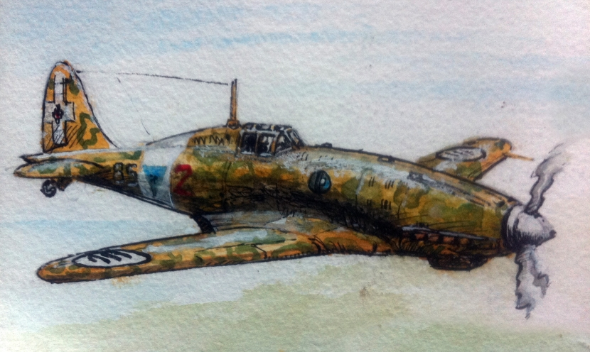 Favoloso Folgore: a painting of the  Macchi C.202 Folgore by Edward Ward