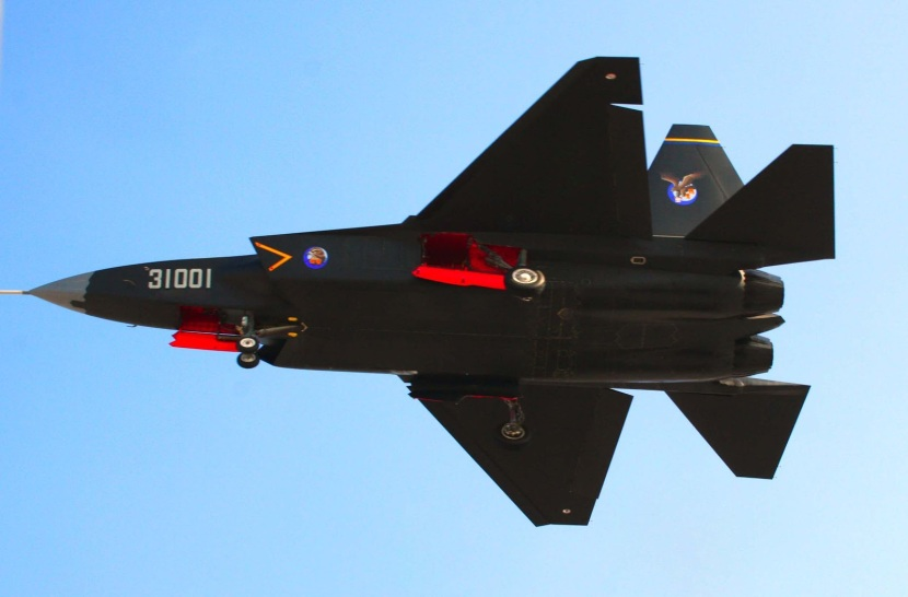 china J-31 fifth generation stealth, naval carrier aircraft prototype People's Liberation Army Air Force  OPERATIONAL weapons aam bvr missile ls pgm gps plaaf test flightf-22 1 pl-12 10 21 (3)