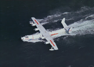 Harbin SH-5 Wing-In-Ground aircraft (WIG) (Chinese 水轰五型 水轰水上轰炸机seaborne bomber maritime patrol amphibious aircraft aerial firefighting, anti-submarine warfare (ASW) air-sea rescue (SAR)PLA NAVY (5)