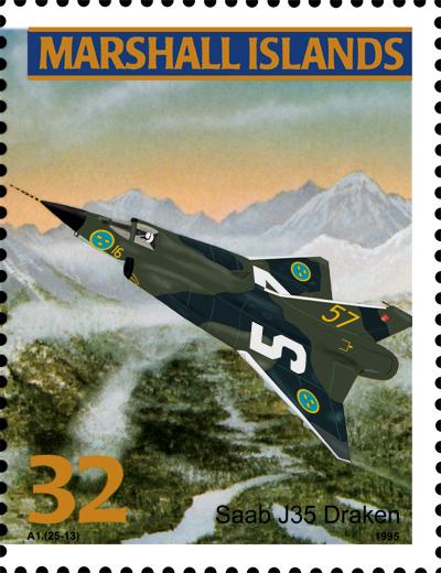 The Saab Draken on a postage stamp?!?