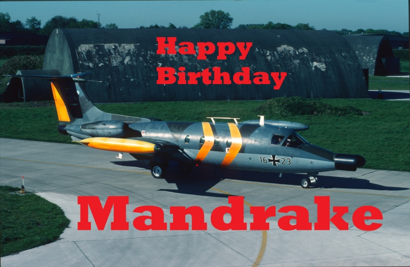 Special birthday message for Mandrake