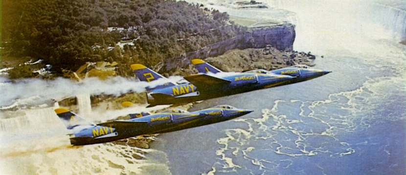F11Fs_Blue_Angels_over_Niagara_Falls_c1957