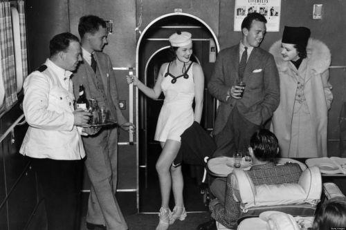 vintage airplane travel