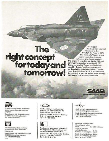 Aircraft Manufacturers-SAAB-1976-5218