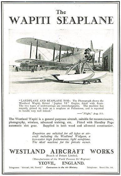 Aircraft Manufacturers-Westland-1928-6434