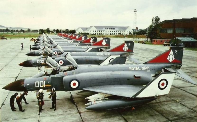 892 Naval Air Squadron at RAF Leuchars 1976 Ready to Embark to HMS Ark Royal.