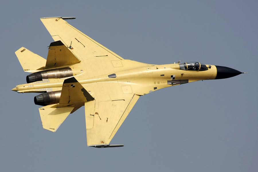 J-11B prototype 524 - 06 Chinese J-11B Flanker Fighter Jet Spotted With Grey Radome modifed radardome active radar scanned, AESA In Play (5)
