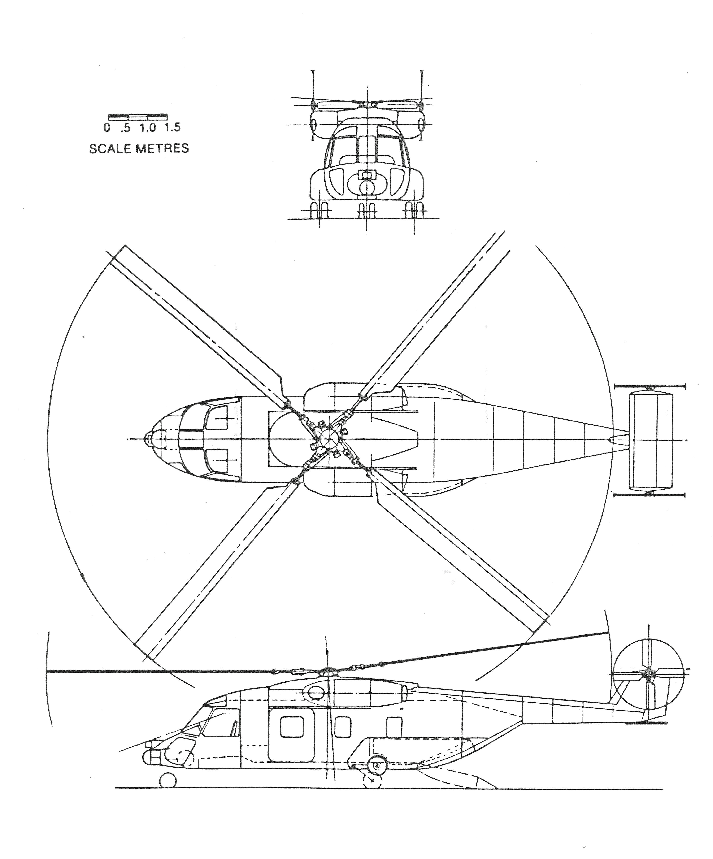 WG38 twin tail rotor WG34
