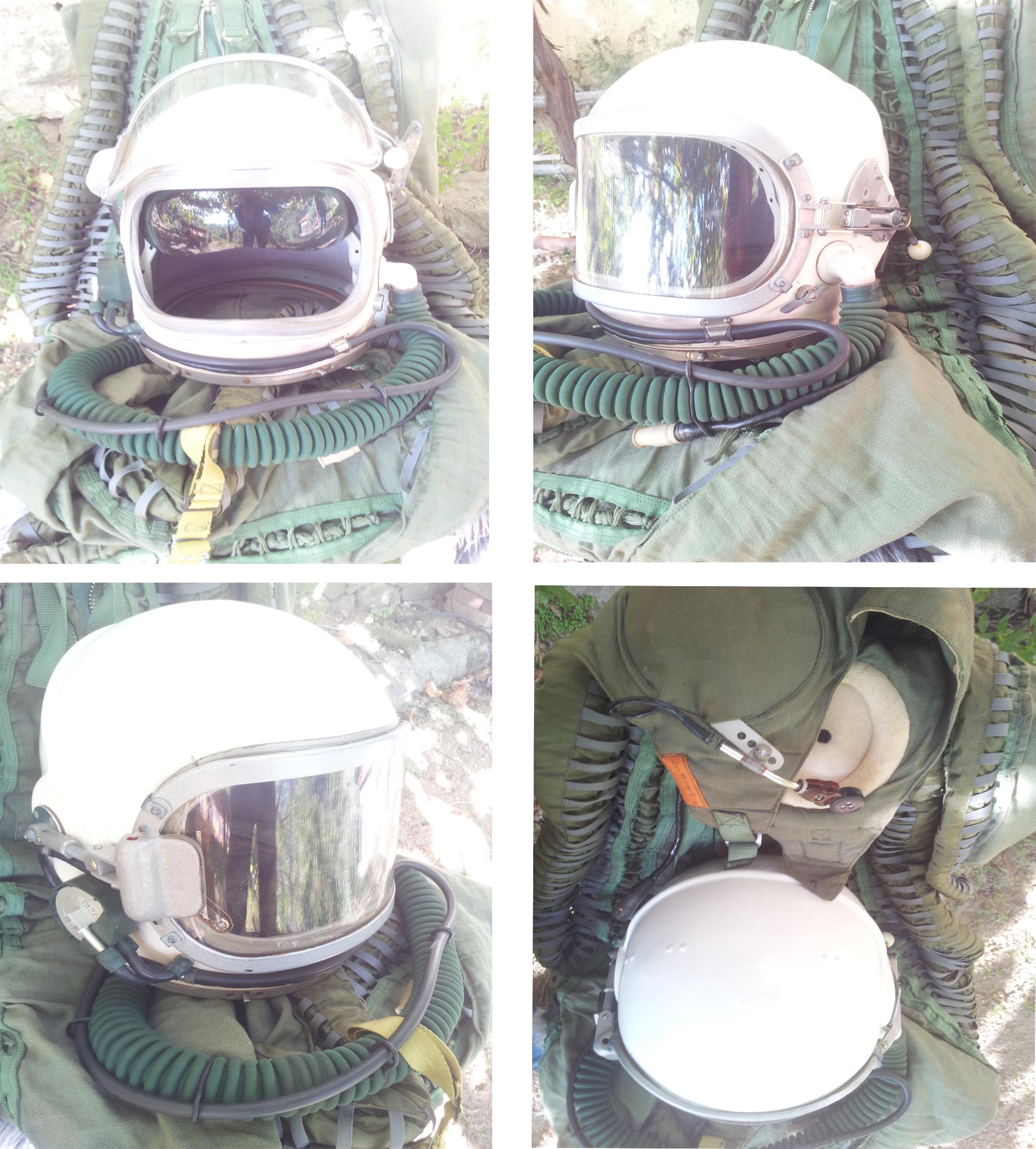 Flight pilot Helmet Pressure suit Cold War MIG 25 1.jpg