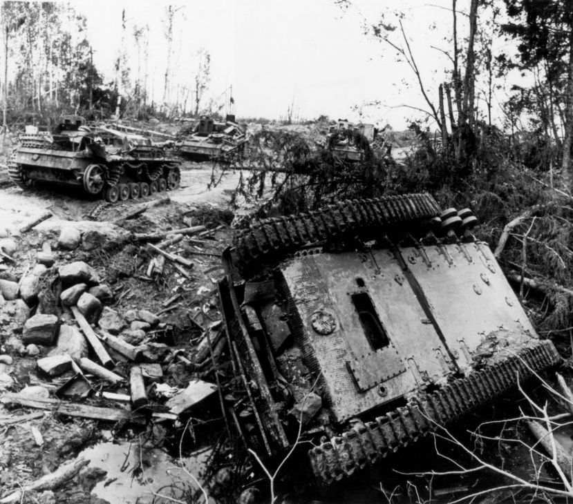 8_Destroyed tank column 1944.jpg
