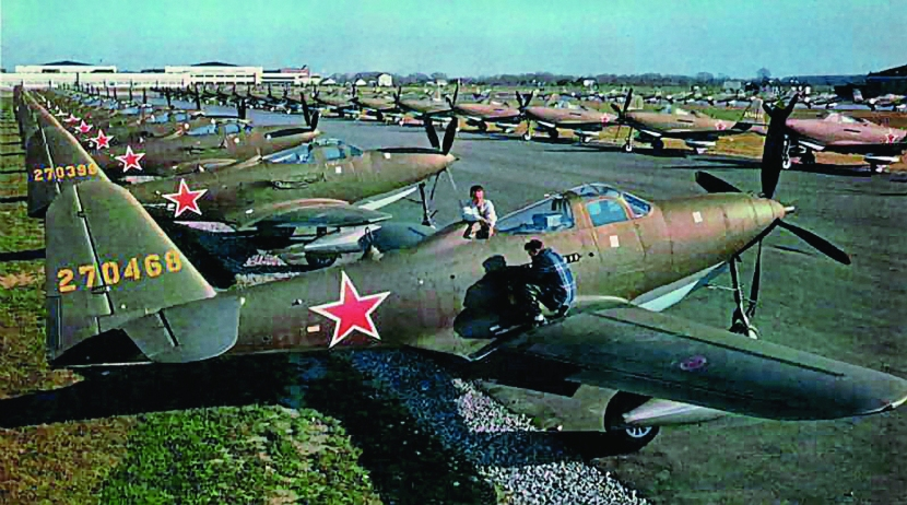 Bell P-63 Kingcobras at Bell factory.jpg