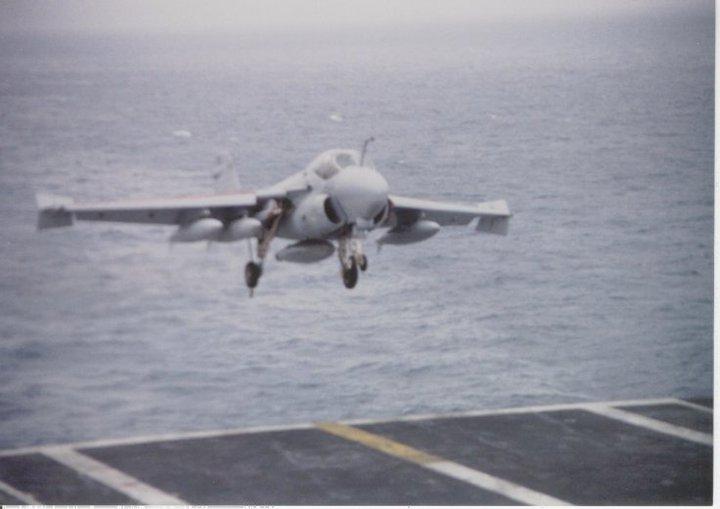 A-6E at ramp CV-62 1989