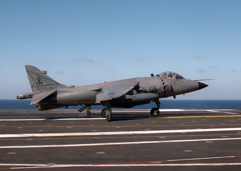 BAe_Sea_Harrier_800_NAS_on_USS_Eisenhower_1984