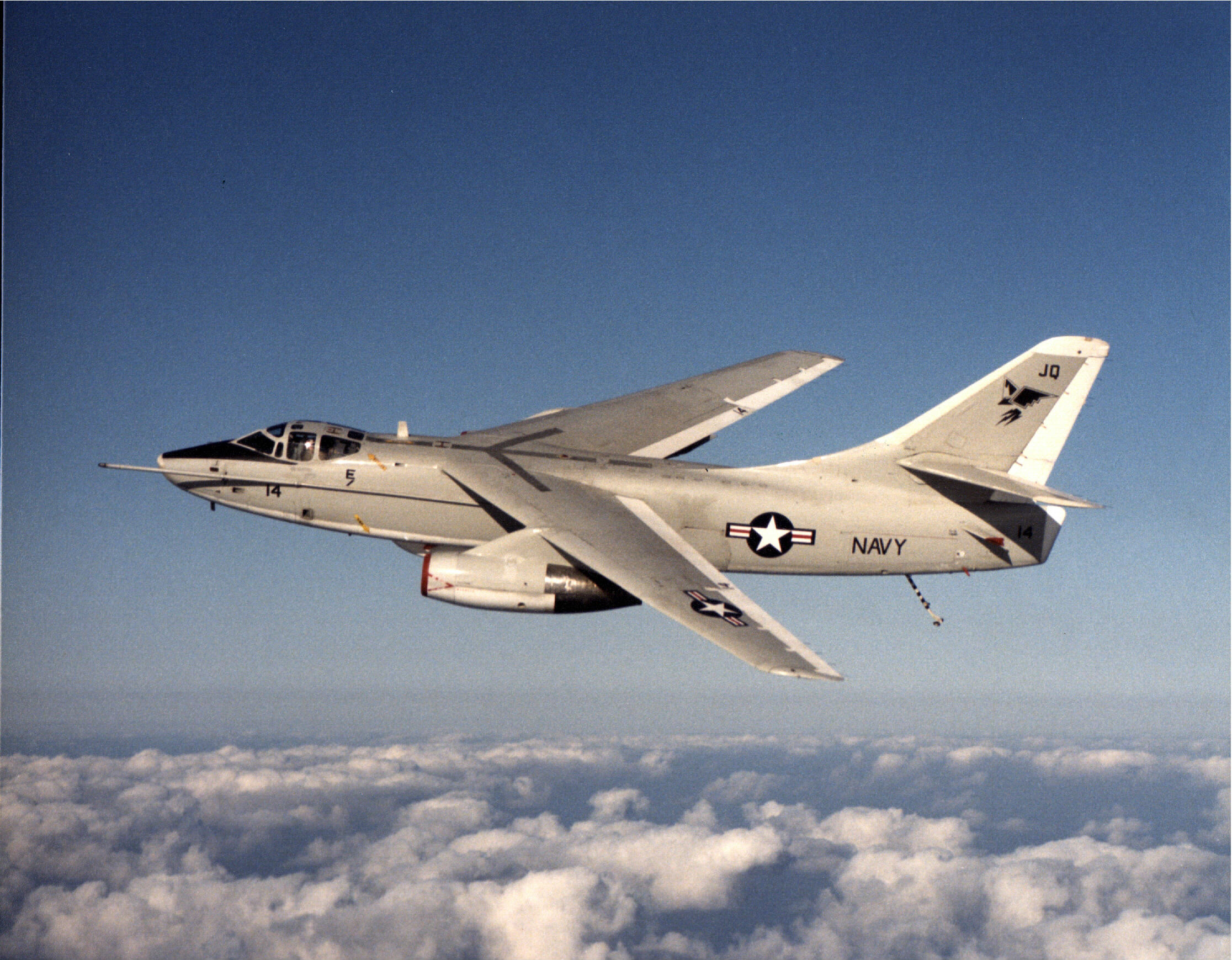 EA-3B_Skywarrior_of_VQ-2_over_the_Gulf_of_Sidra_1984