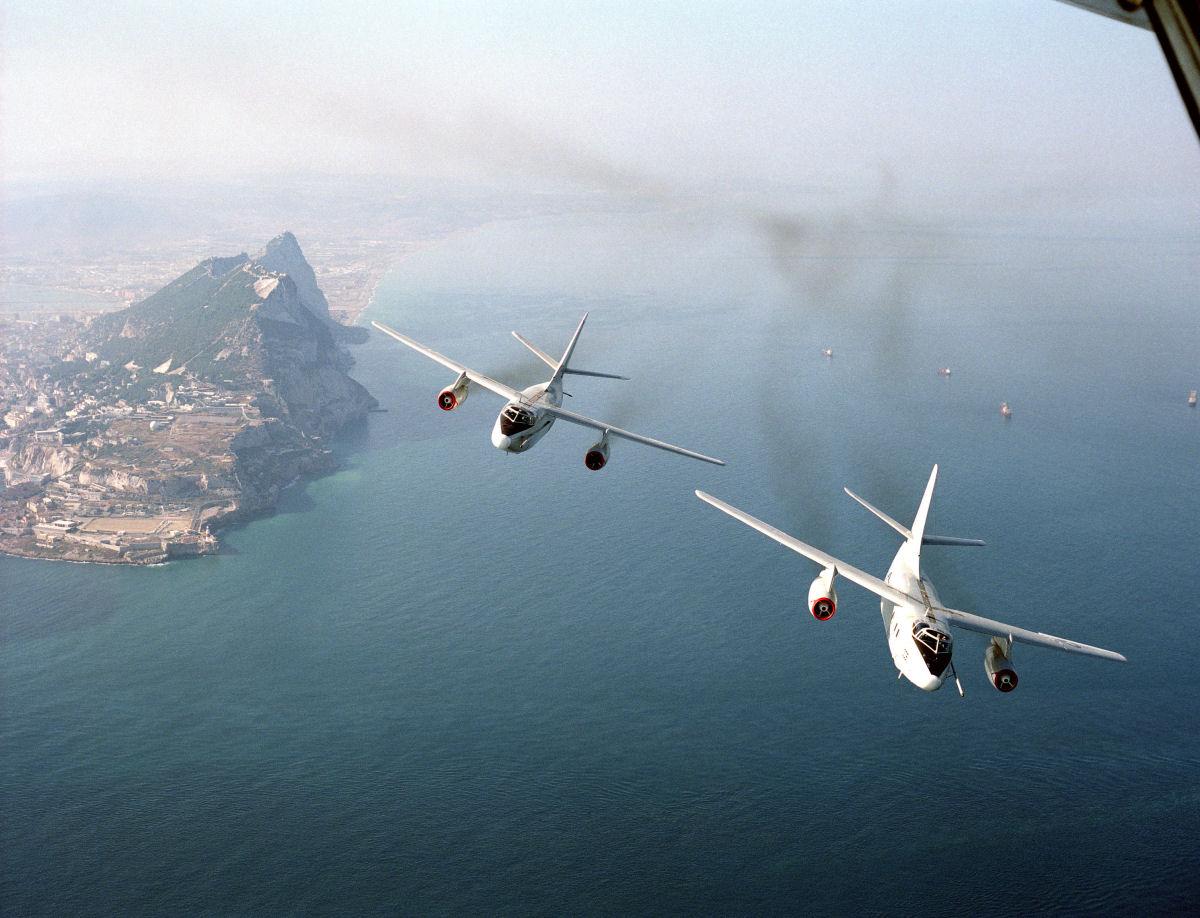 VQ-2 EA-3B's over Gibralter (2)