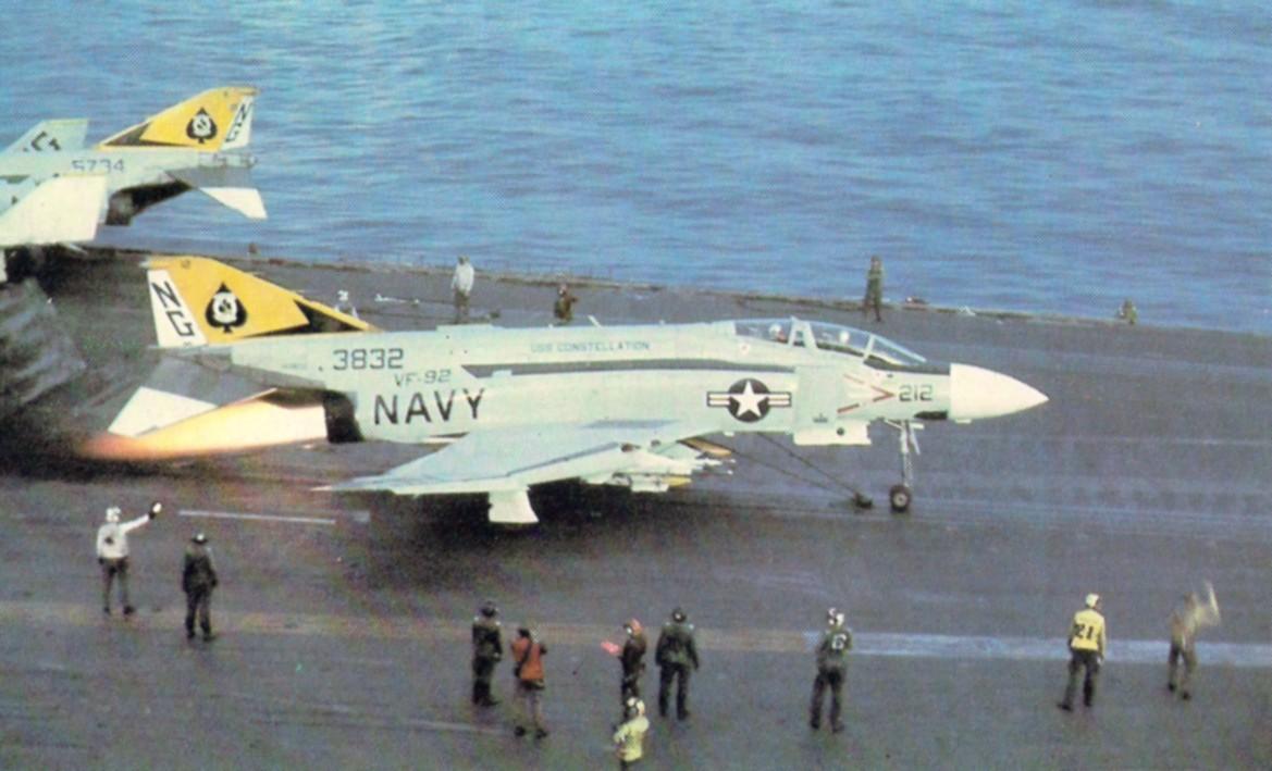F-4J_Phantom_VF-92_launch_CVA-64_1973