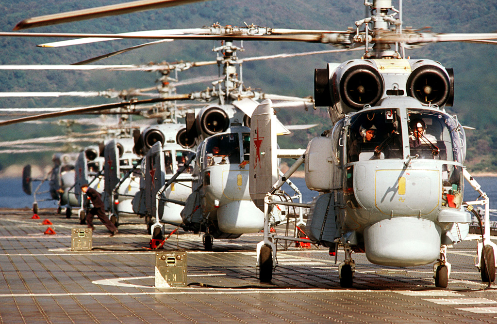 RIAN_archive_139612_Helicopters_on_deck_of_the_Novorossiisk_cruiser